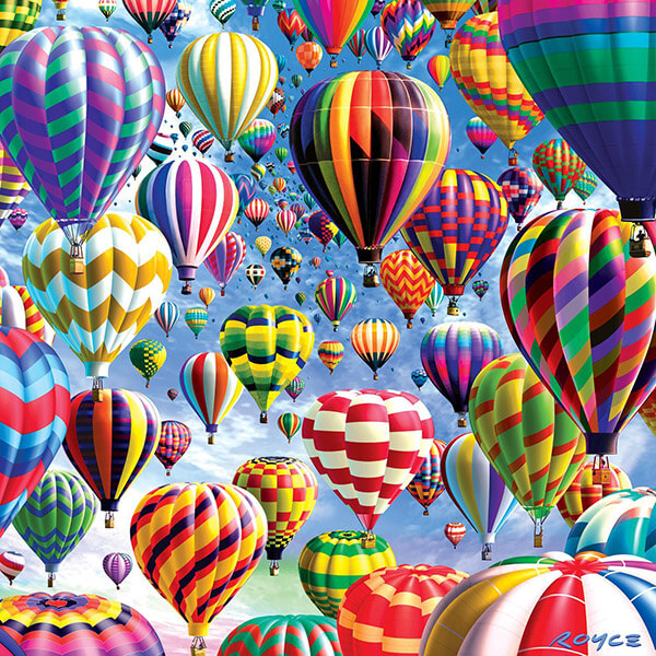Double Sided Hot Air Balloons Puzzle #jigsaw #puzzle