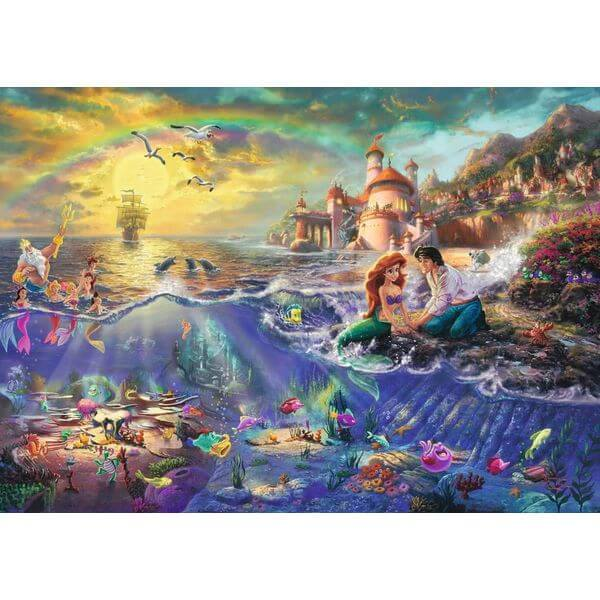 Thomas Kinkade The Disney Dreams Collection The Little Mermaid Jigsaw Puzzle