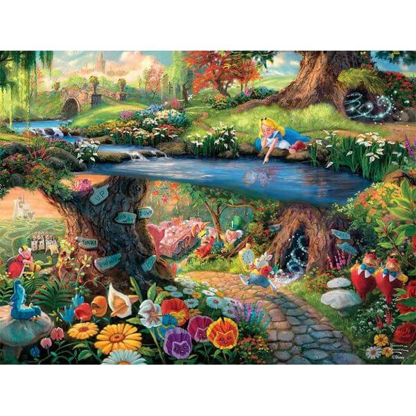 Thomas Kinkade Disney Collection Alice in Wonderland Jigsaw Puzzle