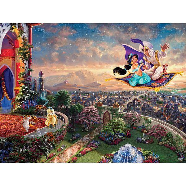 Thomas Kinkade The Disney Dreams Collection Aladdin Jigsaw Puzzle