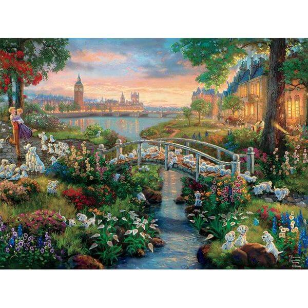 Thomas Kinkade The Disney Collection 101 Dalmatians Jigsaw Puzzle