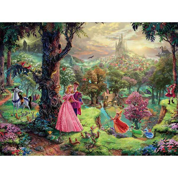 Thomas Kinkade The Disney Dreams Collection Sleeping Beauty Jigsaw Puzzle