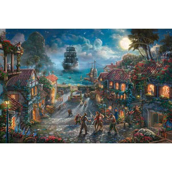 Thomas Kinkade Disney Parks Exclusive Pirates of the Caribbean Jigsaw Puzzle