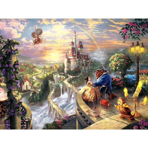 Thomas Kinkade The Disney Dreams Collection Beauty and the Beast Falling in Love Puzzle