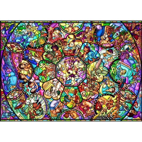 Disney All-Stars Stained Glass Jigsaw Puzzle