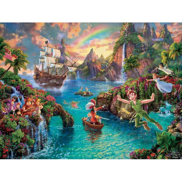 Thomas Kinkade The Disney Collection Peter Pan Jigsaw Puzzle