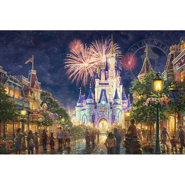 Thomas Kinkade Walt Disney World Main Street U.S.A. Jigsaw Puzzle