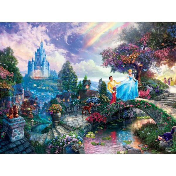 Thomas Kinkade The Disney Dreams Collection Cinderella Wishes Upon a Dream Puzzle