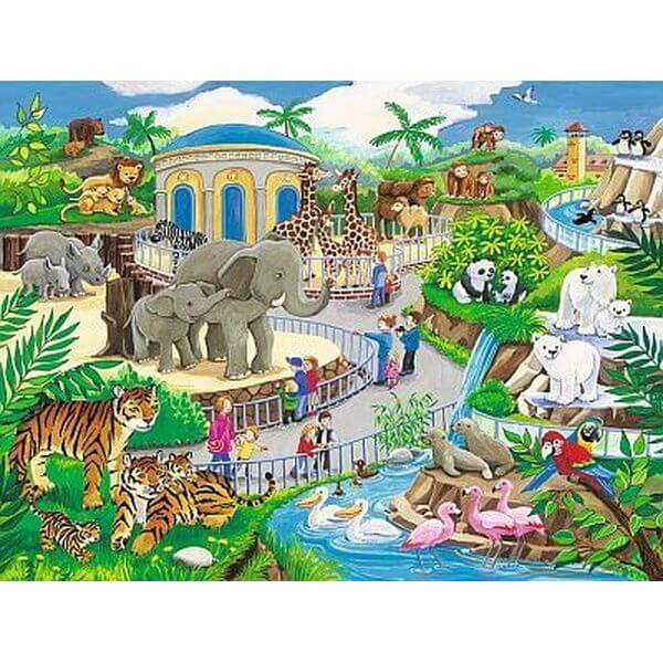 Ravensburger Visit to The Zoo Frame Jigsaw Puzzle