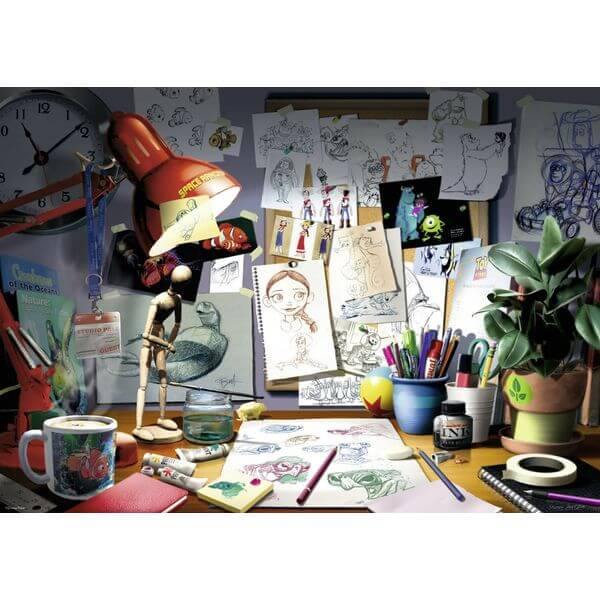 Ravensburger Disney Pixar: The Artist's Desk Jigsaw Puzzle