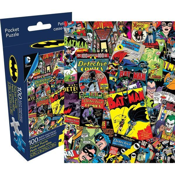 Aquarius DC Comics Batman Collage Pocket Jigsaw Puzzle