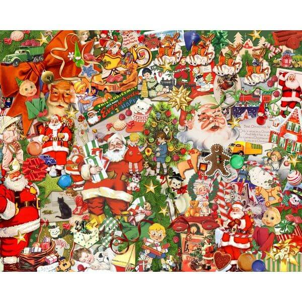 Vintage Christmas Jigsaw Puzzle - Puzzle Haven #ChristmasPuzzles