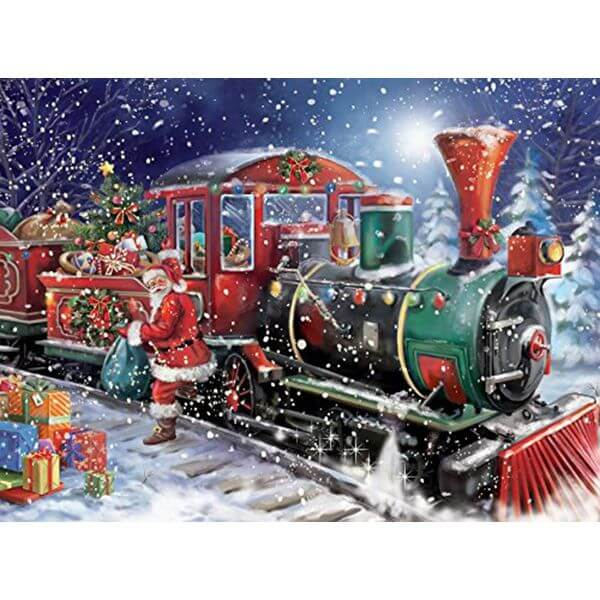 Ceaco Classic All Aboard Christmas Puzzle - Puzzle Haven #ChristmasPuzzles