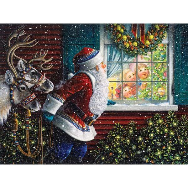 Springbok Puzzles Gifts From Santa Christmas Jigsaw Puzzle - Puzzle Haven #ChristmasPuzzles