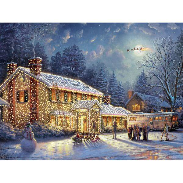 Ceaco Thomas Kinkade National Lampoon's Christmas Vacation Jigsaw Puzzle - Puzzle Haven #ChristmasPuzzles