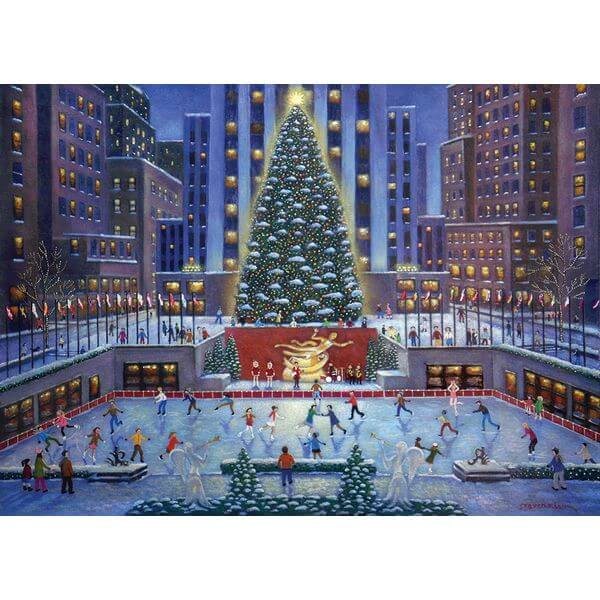 NYC Christmas Puzzle - Puzzle Haven #ChristmasPuzzles