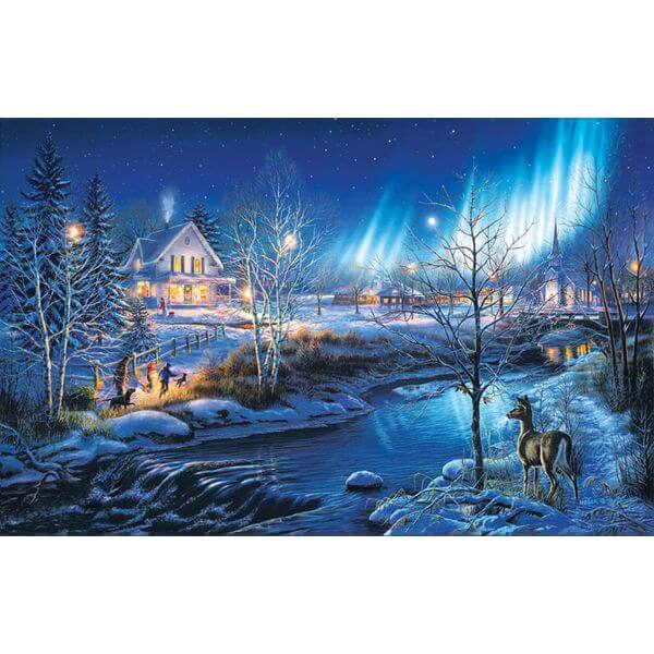 All is Bright Christmas Jigsaw Puzzle - Puzzle Haven #ChristmasPuzzles