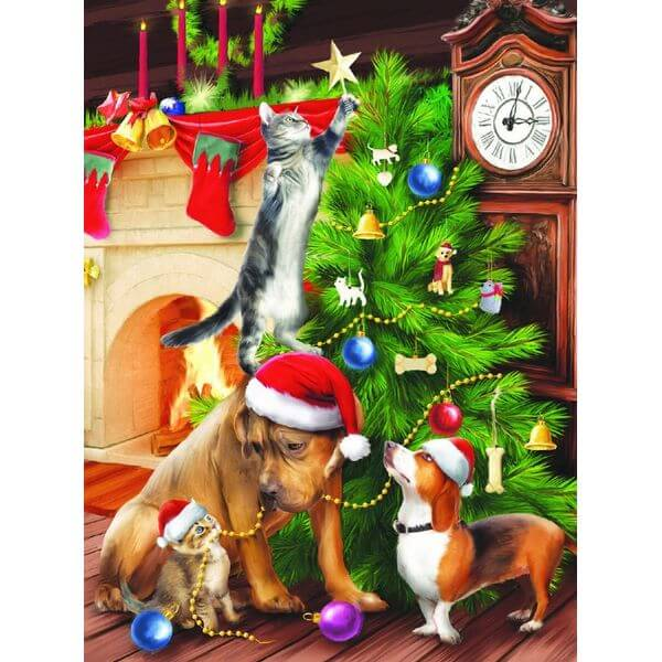 Trimming the Tree Christmas Jigsaw Puzzle - Puzzle Haven #ChristmasPuzzles