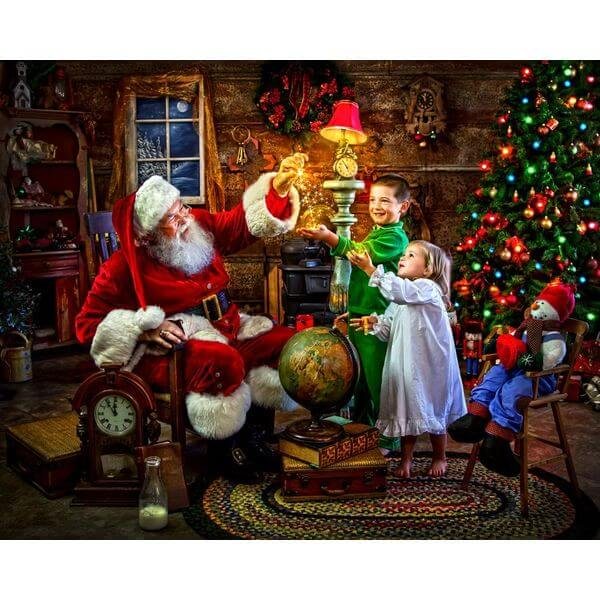Santa's Magic Christmas Jigsaw Puzzle - Puzzle Haven #ChristmasPuzzles