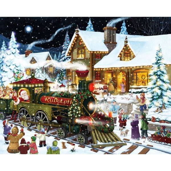 Santa's Express Christmas Jigsaw Puzzle - Puzzle Haven #ChristmasPuzzles