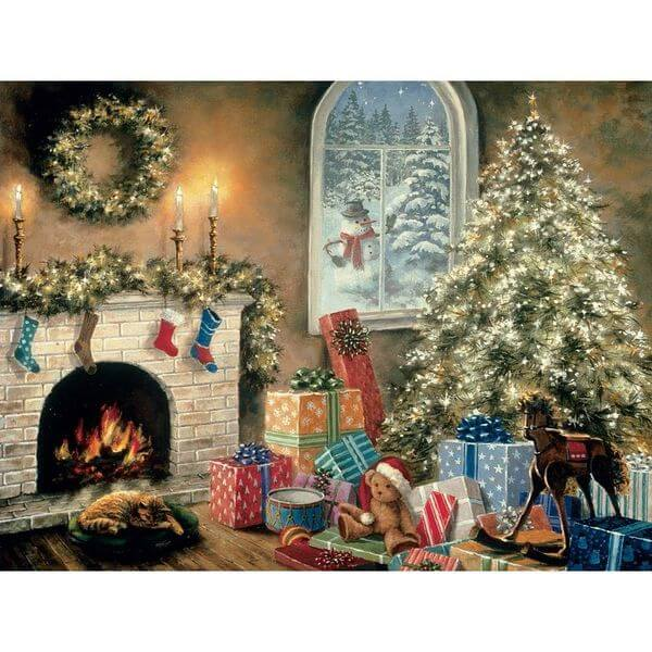 Bits and Pieces Not a Creature Was Stirring Christmas Puzzle - Puzzle Haven #ChristmasPuzzles