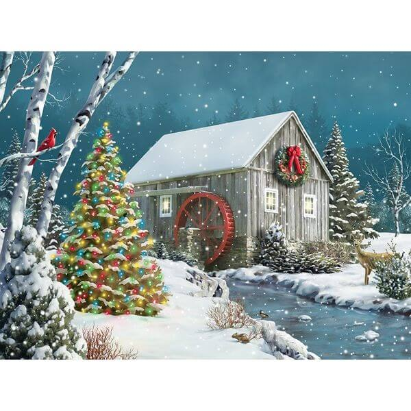 Springbok Puzzles The Falling Snow Jigsaw Puzzle - Puzzle Haven #ChristmasPuzzles