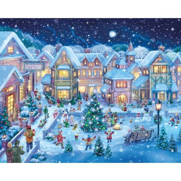 Holiday Village Christmas Jigsaw Puzzle - Puzzle Haven #ChristmasPuzzles