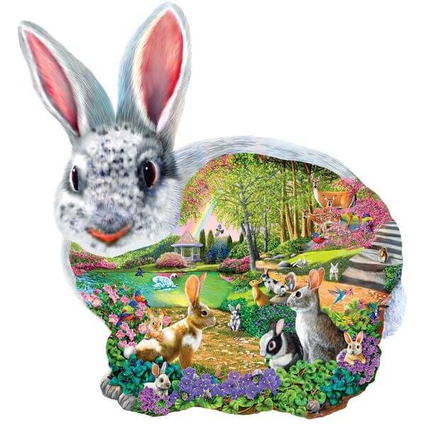 Hollow Bunny Shaped Easter Jigsaw Puzzle