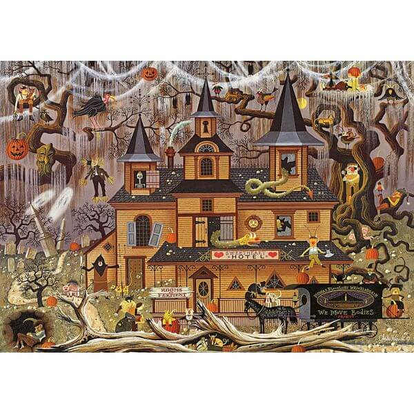 Trick or Treat Hotel Jigsaw Puzzle