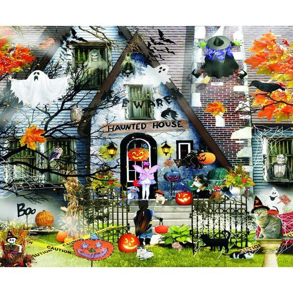 Haunted House Halloween Jigsaw Puzzle