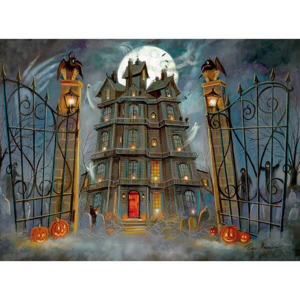 Bits and Pieces The Haunted House Halloween Jigsaw Puzzle