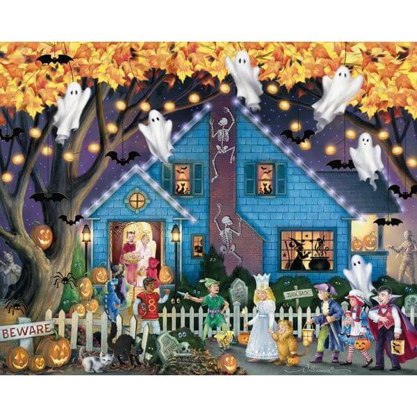 Ghostly Gathering Halloween Jigsaw Puzzle
