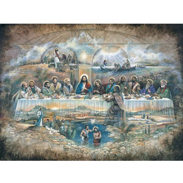 Bits and Pieces Last Supper Religious Jigsaw Puzzle