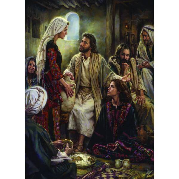 At Jesus' Feet Religious Puzzle