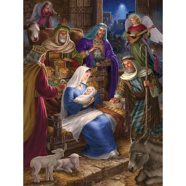 Cobble Hill Holy Night Religious Jigsaw Puzzle