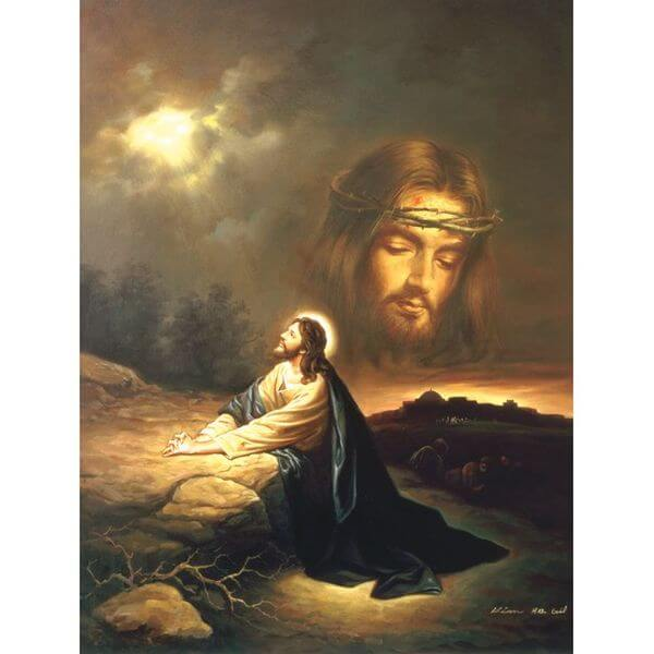 Praying at Gethsemane Jigsaw Puzzle