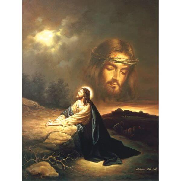 Praying at Gethsemane Jigsaw Puzzle