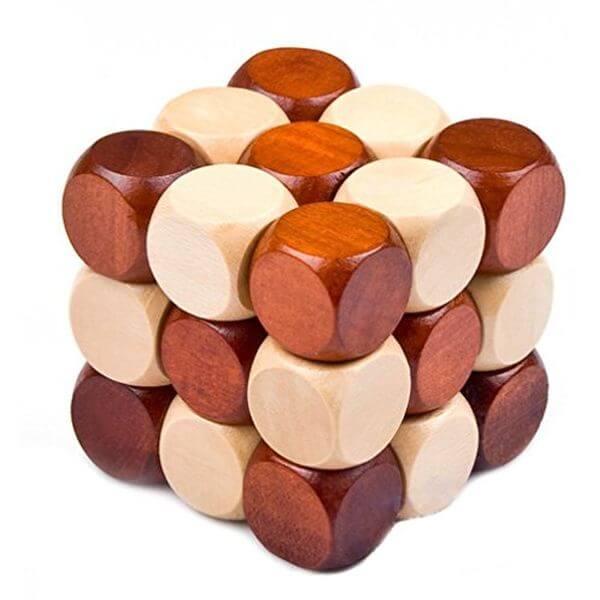 MAGIKON Snake Cube Wooden Puzzle