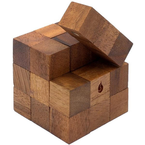 Snake Cube Wooden Puzzle