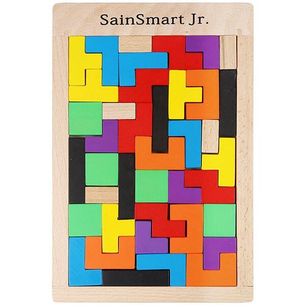 SainSmart Jr. Wooden Tetris Puzzle