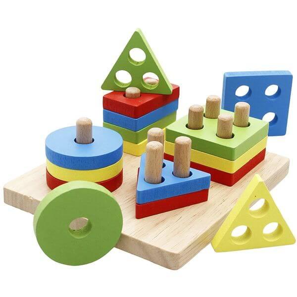 Lewo Geometric Educational Wooden Puzzle