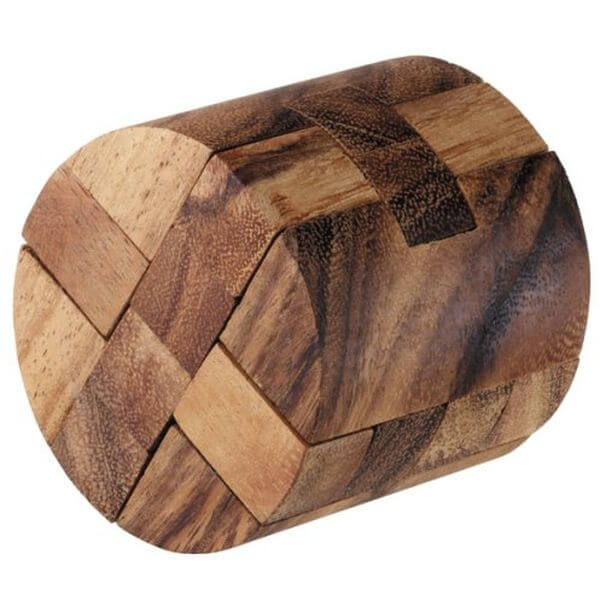 Round Diamond Wooden Puzzle