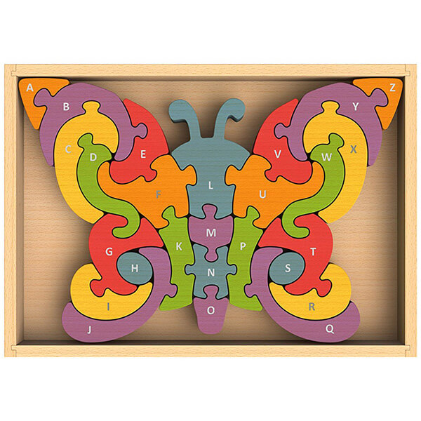 BeginAgain Butterfly A to Z Wooden Puzzle