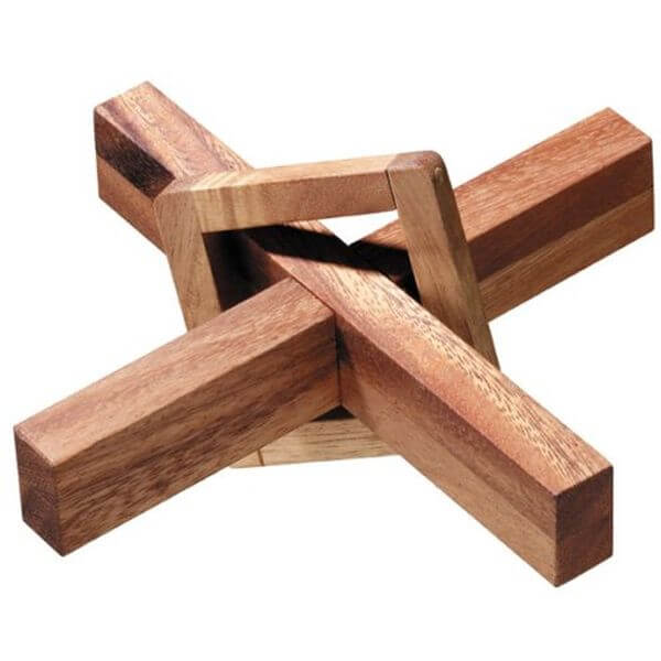The Perplexing X in a Box Wooden Puzzle