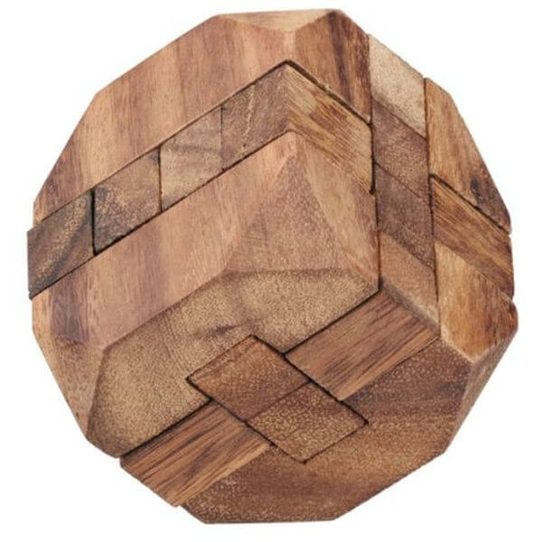 The Diamond Cube Wooden Puzzle