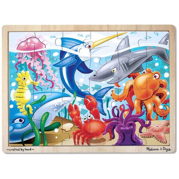 Melissa & Doug Ocean Animals Wooden Jigsaw Puzzle