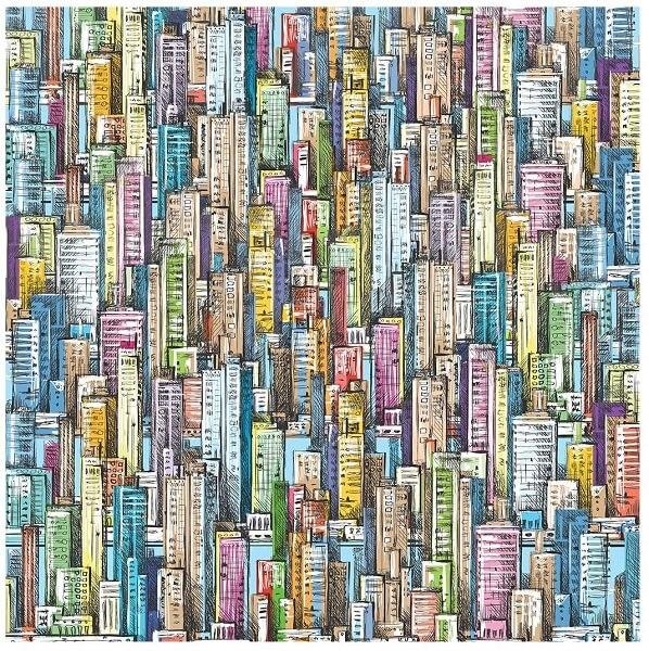 Bgraamiens Skyscraper Sea Jigsaw Puzzle