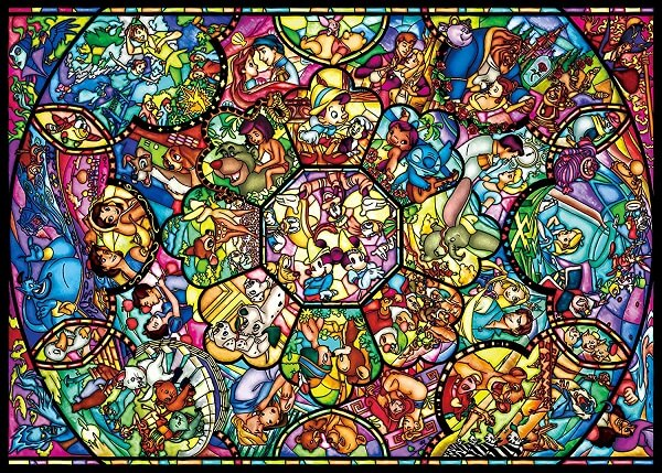 Tenyo Disney Characters Stained Glass Jigsaw Puzzle